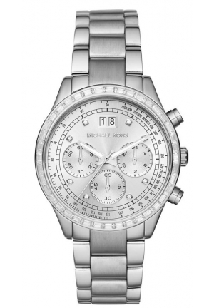 MICHAEL KORS BRINKLEY CHRONOGRAPH SILVER LADIES WATCH