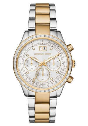 MICHAEL KORS Brinkley Baguette Two-Tone Watch 40mm