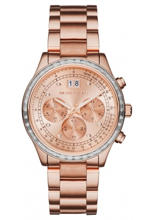 MICHAEL KORS Brinkley Chronograph Rose Dial Rose Gold-tone Ladies Watch
