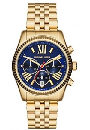 MICHAEL KORS Lexington Chronograph Blue Dial Gold-tone Ladies Watch