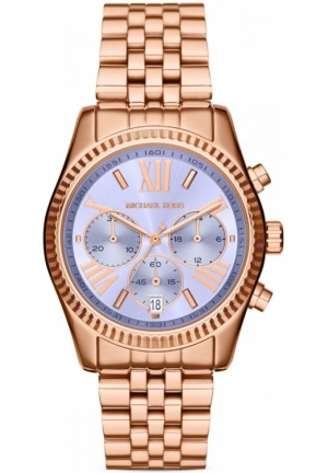 MICHAEL KORS Lexington Chronograph Purple Dial Rose Gold-tone Ladies Watch