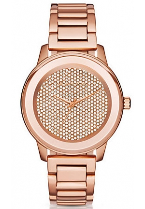 MICHAEL KORS Kinley Pavé Rose Gold-Tone Watch 41.5mm