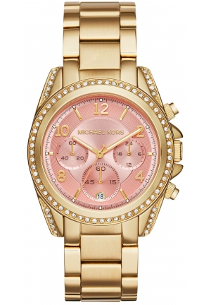 Michael Kors Women's Chronograph Blair Gold-Tone Stainless Steel Bracelet Watch 39mm
