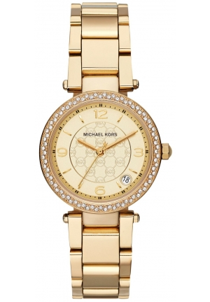 Michael Kors Women's Mini Parker Gold-Tone Stainless Steel Bracelet Watch 33mm