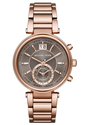 MICHAEL KORS Sawyer Rose Gold-Tone Watch 39mm