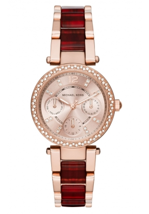 MICHAEL KORS Red Mini Parker Watch 33mm