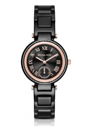 MICHAEL KORS  Mini Skylar Rose Gold-Tone And Ceramic Watch