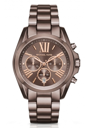 MICHAEL KORS  Oversized Bradshaw Rose-Gold-Tone Sable Watch