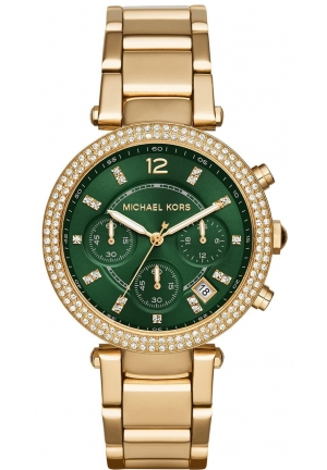 MICHAEL KORS Women's Chronograph Parker Gold-Tone Watch 39mm