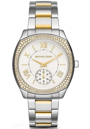 Michael Kors Bryn Silver Dial Two Tone Ladies Watch