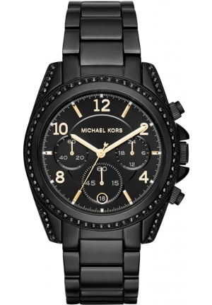 MICHAEL KORS  Blair Pavé Black-Tone Watch 39mm