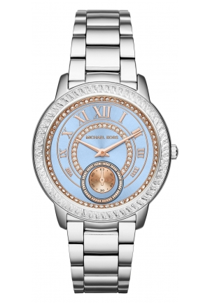 MICHAEL KORS  Madelyn Pavé Silver-Tone Watch