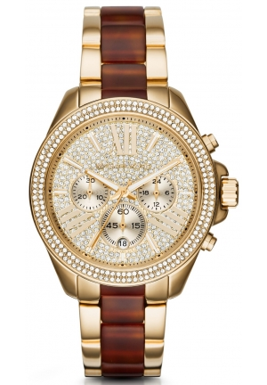 MICHAEL KORS  Wren Pavé Gold-Tone And Acetate Watch