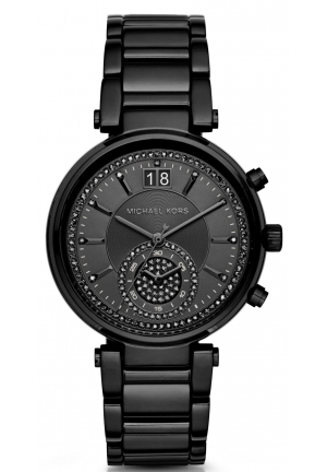 MICHAEL KORS  Sawyer Black-Tone Watch