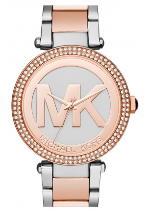 MICHAEL KORS Parker Rose Gold and Silver-tone Stainless Steel Ladies Watch 39mm