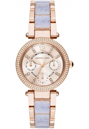 Michael Kors Women's Mini Parker Rose Gold-Tone Bracelet Watch