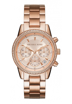 Ritz Rose Gold-Tone Chronograph Watch 37MM
