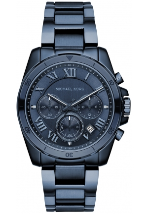 Michael Kors Brecken Navy Blue IP Chronograph Watch