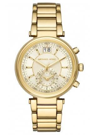 Sawyer Gold-Tone Chronograph Watch MK6362