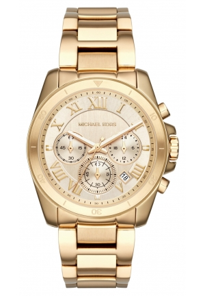 Michael Kors Shop Brecken Gold-Tone Chronograph Watch