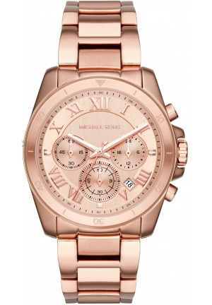 Michael Kors Brecken Rose Gold-Tone Chronograph Watch