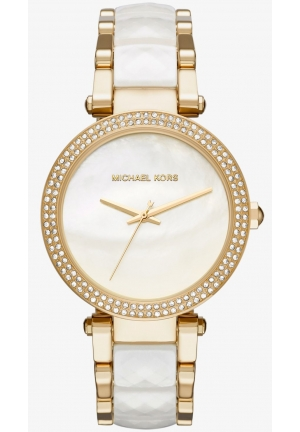 MICHAEL KORS  Parker Gold-Tone And Acetate Watch