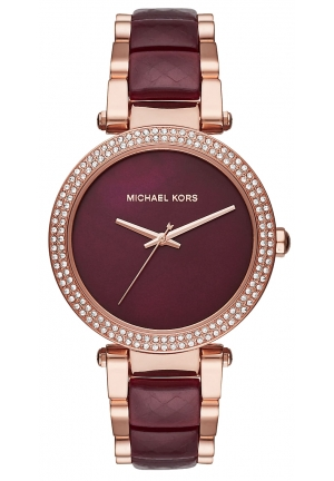 Michael Kors Women's Parker Two-Tone Stainless Steel and Acetate Bracelet Watch 39mm