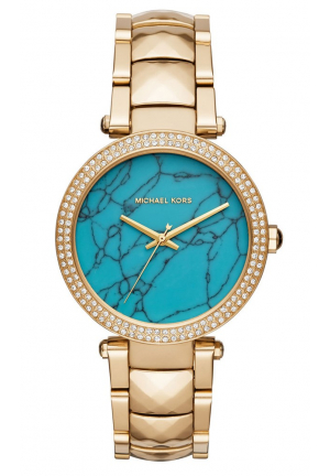 PARKER GOLD STAINLESS STEEL CRYSTAL WATCH