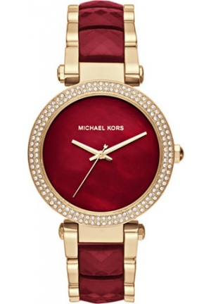 MICHAEL KORS PARKER GOLD-TONE AND ACETATE WOMEN'S WATCH 39MM