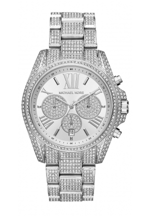 Bradshaw Pavé Silver-Tone Watch 43mm