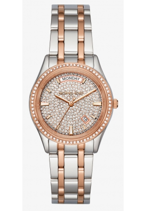 Kiley Pavé Two-Tone Watch