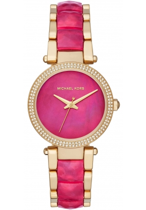 Michael Kors Parker Pink Mother Of Pearl Dial Ladies Watch