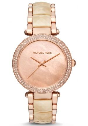 Parker Rose Gold-Tone and Champagne Acetate Three-Hand Watch