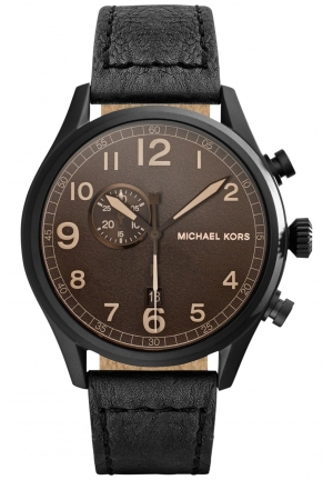 MICHAEL KORS Chronograph Hangar Black Watch 45mm