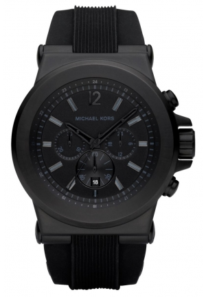 Men's Dylan Black Silicone Strap 45mm