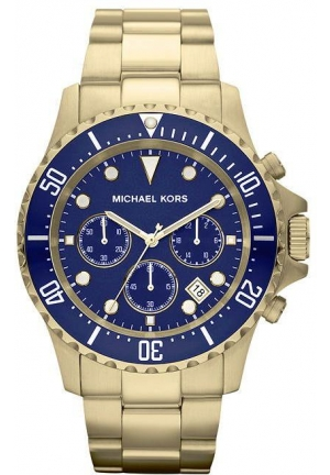 Michael Kors Everest Men's Blue Dial Stainless Steel Band Chronograph Watch