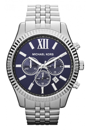 MICHAEL KORS Men's Chronograph Lexington Stainless Steel Bracelet Watch 45mm