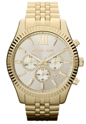 MICHAEL KORS Lexington Gold Tone Men's Watch 44mm