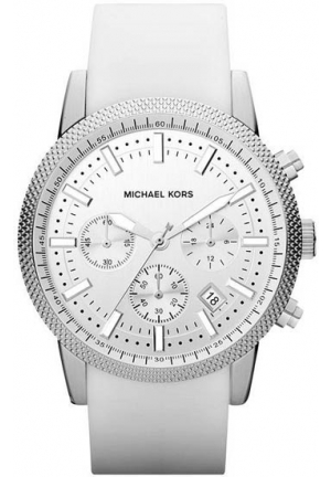 MICHAEL KORS Scout Men ́s White Silicone Watch 43mm