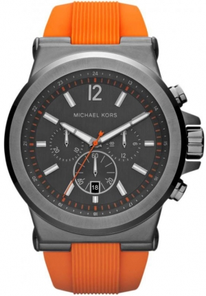 MICHAEL KORS Dylan Gunmetal Silicone Watch 48mm