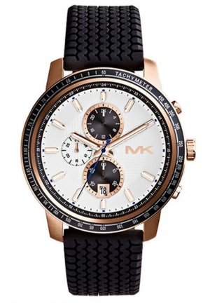 MICHAEL KORS Men's Chronograph Granger Black Silicone Watch 51mm