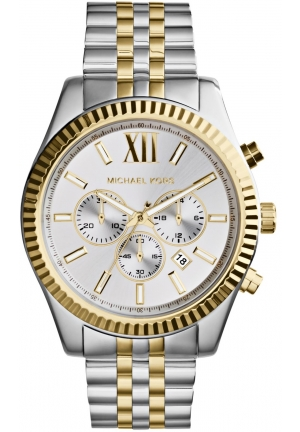Lexington Chronograph Two Tone Gold Watch 45mm