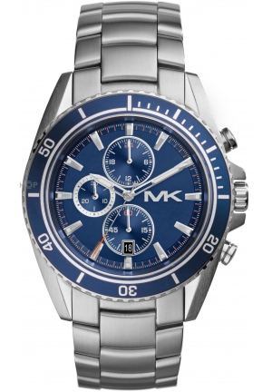 MICHAEL KORS Chronograph Blue Dial Stainless Steel Mens Watch 45mm