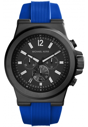 MICHAEL KORS Dylan Black Silicone Watch 48mm