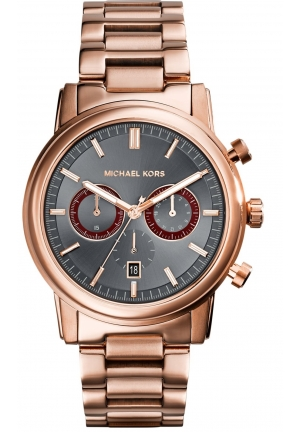 MICHAEL KORS Pennant Men's Rose Gold Tone 43mm