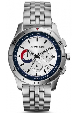 Outrigger Silver and Blue Dial Stainless Steel Watch 43mm