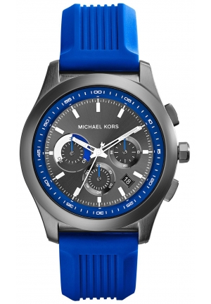 MICHAEL KORS Outrigger Blue and Gunmetal Watch 43mm