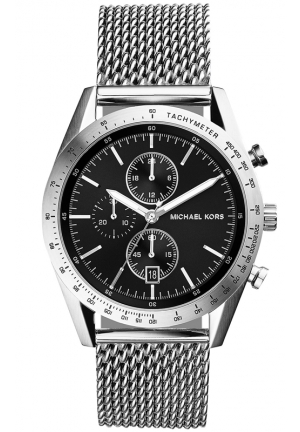 Chronograph Accelerator Stainless Steel Mesh Bracelet Watch 42mm