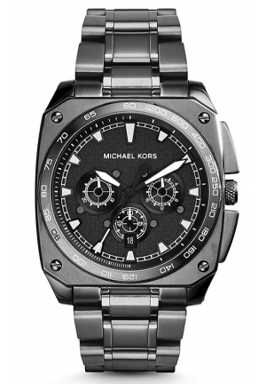 Grandstand Gunmetal-Tone Watch 43 mm x 42 mm
