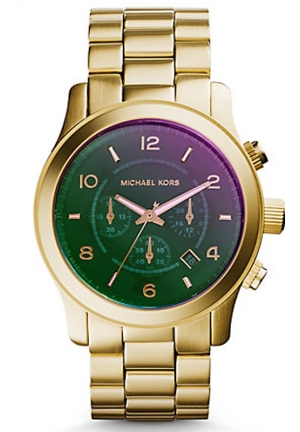 MICHAEL KORS Runway Flash Lens Gold-Tone Watch 45mm